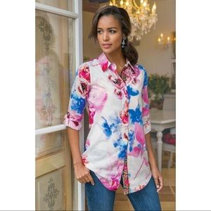 Soft Surroundings Aquarelle Watercolor Shirt PXL